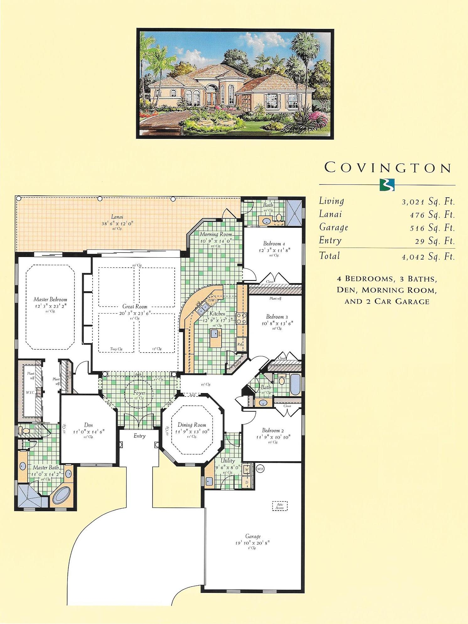 Covington floor plan for Wrap house covington