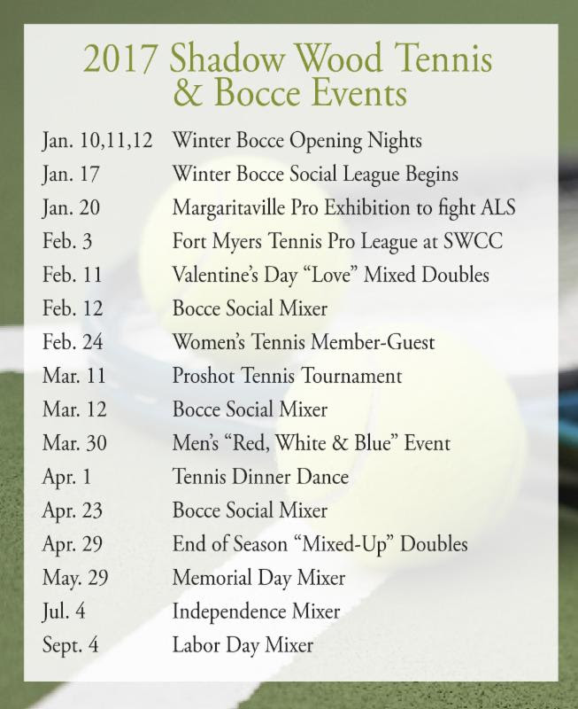 Tennis Bocce Events