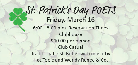 St Patrick's Day Poets