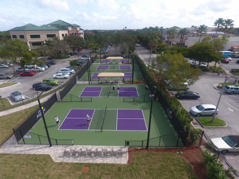 Bonita Bay Club's New Pickleball Courts.