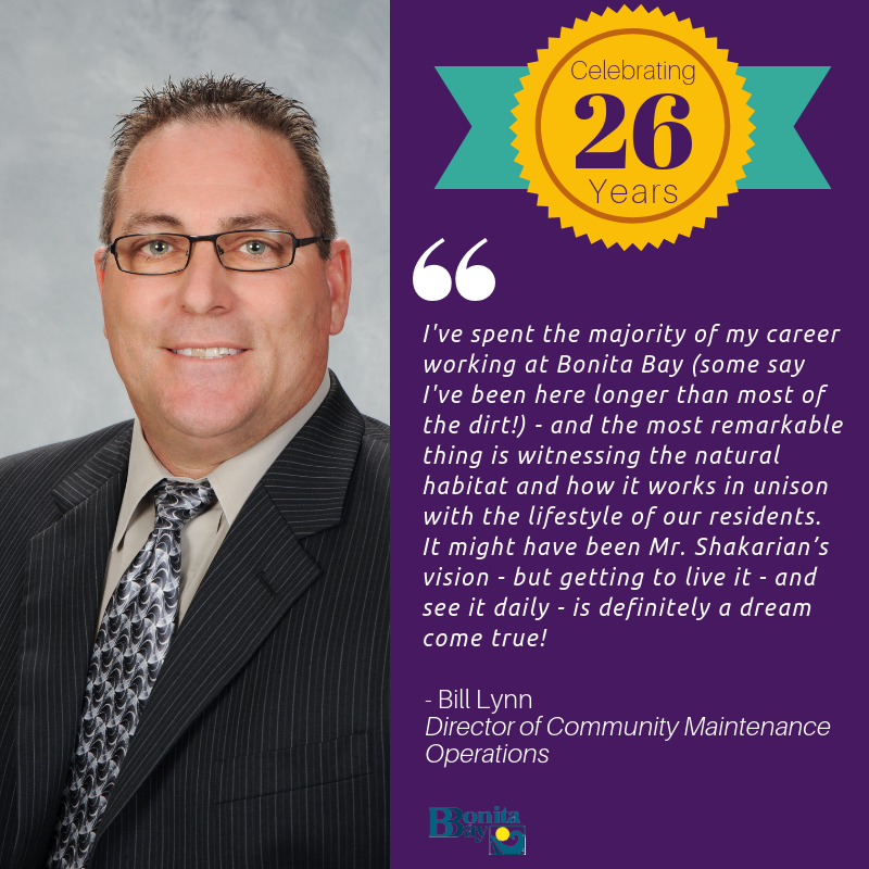 Congratulations to Bill Lynn - 26 Years!
